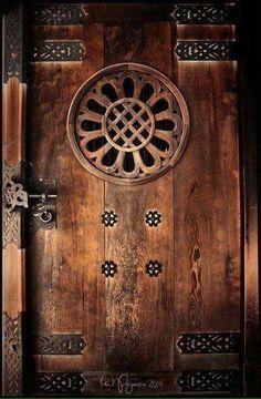 HEAVY WOOD DOOR, EXCELLET CONDITION