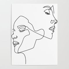 Silhouette Face, Contour Drawing, Diy Crafts For Girls, Minimalist Drawing, Continuous Line Drawing, Line Tattoos, How To Draw Hair, Diy Frame, Face Art