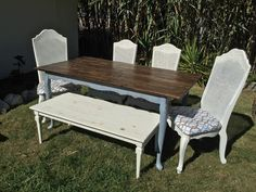 Beautiful custom built French Farmhouse table by Bambooserie Vintage