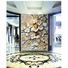 beibehang Home Decor wall paper 3d mural HD classical flower covering Modern 3d flooring wallpaper For Living Room papel contact