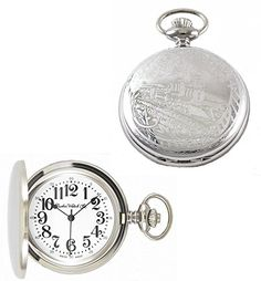 Dueber Watch Co Swiss Steel Hunting Case Pocket Watch with Locomotive Railroad Design *** Visit the image link more details.