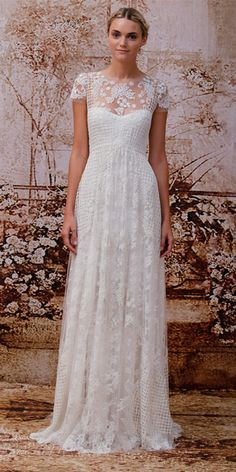 Monique Lhuillier - Monique Lhuillier Fall 2014 Wedding Dresses - InStyle Weddings - Celebrity - InStyle