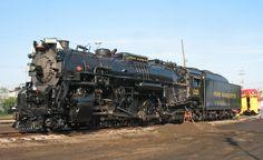 Pere Marquette 1225 - 2-8-4 (Berkshire) steam locomotive. The Polar Express engine itself! Train Pictures, Vintage Artwork, Steam Locomotive, Train Tracks, Steam Engine, Train Station, Railroad Tracks, Croquis, Diesel
