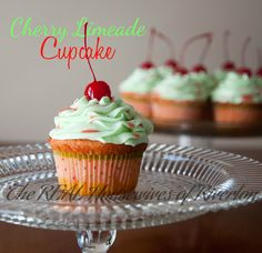 The REAL Housewives of Riverton: Cherry Limeade Cupcakes - Two Recipes!