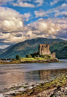 Eilean Donan Castle - Scotland; At the confluence of Loch Duich, Loch Long and…