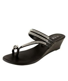Another great find on #zulily! Black Image Wedge Sandal #zulilyfinds