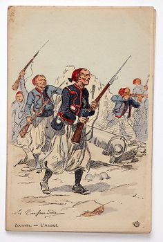 French; Zouaves, Tenue de campagne by Maurice Toussaint
