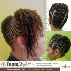 Natural Hairstyles with cornrows, flat twists, and two stand twists Thirsty Roots Team Stylist Dana Augustine  Black Hairstyles and Hair Care