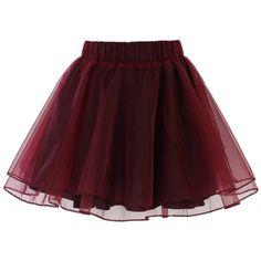 Amore Tulle Midi Skirt in Ice Orange (98 BRL) via Polyvore featuring skirts, layered skirt, layered tulle skirt, calf length skirts, knee length tulle skirt e elastic waistband skirt
