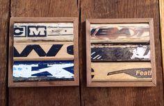 Hockey Stick Coasters set of 2 by KDCobbleShop on Etsy