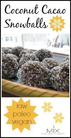 Coconut Cacao Snowballs {Raw  Paleo  Vegan} | www.mixwellness.com