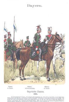 Band IX #32 -  Bayern. Ulanen 1865.