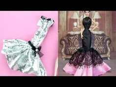 How to Make Barbie Doll Clothes 👗😙 DIY Barbie Clothes Life Hacks 🤗 Barbie Tutorial - YouTube Diy Barbie Clothes, Diy Clothes, Barbie Dolls, Barbie Stuff, Diy And Crafts, Arts And Crafts, Barbie Patterns, Holidays And Events, Life Hacks