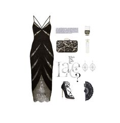"""Lady in Lace"" by molly2222 ❤ liked on Polyvore featuring Agent Provocateur, Jessica McClintock, Dolce&Gabbana, Kabella Jewelry, Nails Inc., Lollia, lace, LittleBlackDress and agentprovocateur"