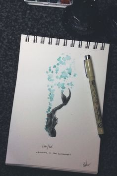 294/365 - Drowning in your environment - Drawing 365 Take 2 By Henry Baker Facebook Instagram