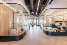Office Pictures, Nature Color Palette, Ventilation System, Curved Glass, Environmental Design, Built Environment, Lounge Areas, Design Firms, Design Design