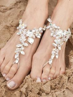 beautiful Beach wedding foot jewelry