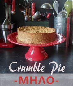 apple pie- no butter, crumble pie Crumble Pie, Vegan Options, Vegan Butter, Apple Pie, Sugar Free, Sweet Tooth, Fruit, Cake, Recipes