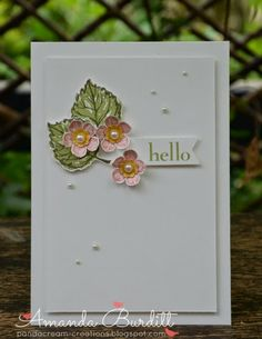 Stamp Set: Gently Falling, Petite Petals, Happy Day Ink: Pear Pizzazz, Always Artichoke, Blushing Bride, Primrose Petals, So Saffron, Crushed Curry Punch: Petite Petals, Itty Bitty Embellishments: Pearls