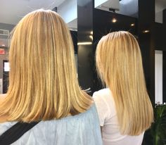 Getting pampered is always more fun  with a friend or your twin!  #blondehair #cutandcolor #stylish #beautifulhaircolor #bydiana #foils #modernsalon