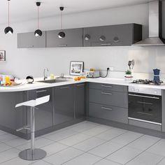 Cuisine COOKE & LEWIS Subway gris prix promo Castorama 619.00 € TTC Table, Kitchen Design, Kitchen Organization, Cabinet, Furniture, Interior, Kitchen, Home Decor, Kitchen Cabinets