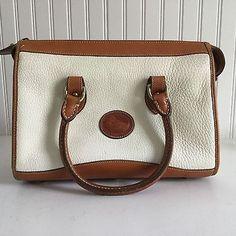 edc3a128b5f Details about Vintage Dooney   Bourke Classic Leather Satchel Purse  Crossbody Shoulder Strap