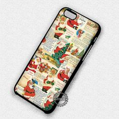 Cute Vintage Image Christmas Gift Santa Claus - iPhone 7 6 5 SE Cases & Covers