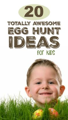 Tons of super fun Easter egg hunt ideas for kids- these are AWESOME!