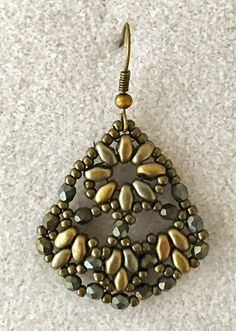 Linda's Crafty Inspirations: Persian Fans Earring Sample