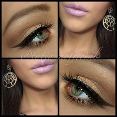 Natural looking make up for green eyes