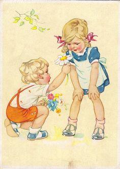 Детские забавы в иллюстрациях | Немецкие открытки...