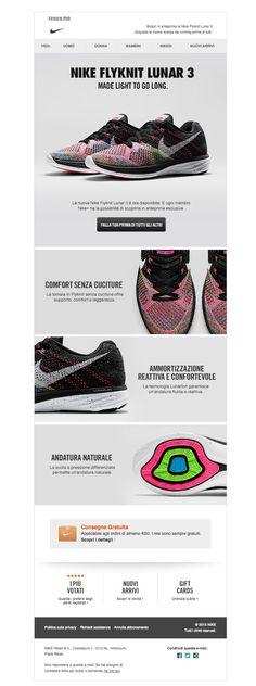 #newsletter Nike 02.2015 In esclusiva per te la nuova Nike Flyknit Lunar 3