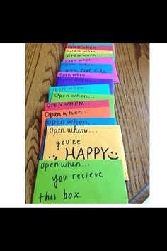 Make A Open When..Letters For Your Boyfriend/Girlfriend When He/She Is Leaving :) They Will Love It #Relationships #Trusper #Tip