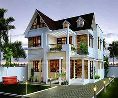 Wonderful 4 Bedroom House Designs, Cool House Designs, New Home Designs, House Front  Design