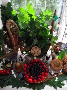 Litha altar / Midsummer altar