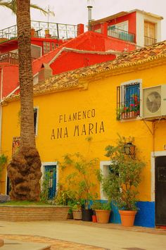 A brightly painted wall in the Plaza de Santo Cristo in the Old Town, Marbella, Spain Places To See, Places Ive Been, Nerja, Marbella Spain, South Of Spain, Morocco Travel, Spain And Portugal, Andalucia, Old Town