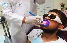 Bare Fiber Dental Handpiece for teeth whitening