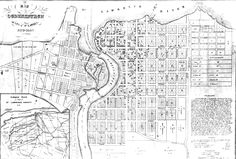 This 1836 map of Ogdensburg, New York, shows the town as it existed in 1838 when the Hunters briefly controlled its waterfront during the Battle of the Windmill.
