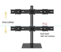 >> Click to Buy << S035 360 Degree Full Motion 6 Screen Monitor Holder Desktop Stand Sliding 13-24 inch Monitor Mount Stand 10kgs Each Loading #Affiliate