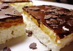 Z bílků a cukru ušleháme tuhý sníh a opatrně do něj vmícháme kokos a hladkou mouku s práškem. Kokos můžeme předem slabě na plechu v troubě... Sweet Recipes, Cake Recipes, Sweet Cooking, Czech Recipes, Sweet Cakes, Easter Recipes, No Bake Cake, Sweet Treats, Cheesecake