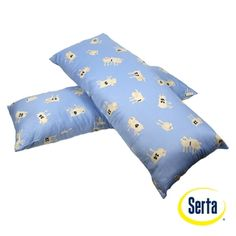 @Overstock - This Serta body pillow is perfect for extra support during sleep or just lounging. This relaxing pillow features 180 thread count, 100-percent cotton fabric and consistent polyester fill.http://www.overstock.com/Bedding-Bath/Serta-Counting-Sheep-Body-Pillow-Set-of-2/5986505/product.html?CID=214117 $29.89
