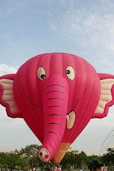 Pink elephant balloon....