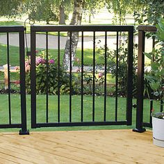 Each gate is pre-packaged with everything you need to install a fully functional gate (fasteners, hinges and latch assembly); you have the freedom to choose between a standard picket gate or a wide picket gate. - RailBlazers® Aluminum Railing