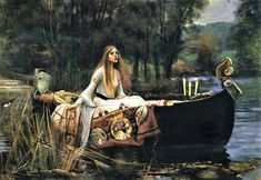 The Lady of Shalott - Counted cross stitch pattern in PDF format by Maxispatterns on Etsy