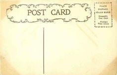 Antique Images: Free Digital Background: Vintage Postcard Back Digital Background