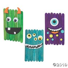 Remember those monsters that lived under your bed when you were a kid? Yeah, these aren't those guys. An adora-boo addition to kids' crafts for . Easy Arts And Crafts, Fun Crafts For Kids, Craft Activities For Kids, Toddler Crafts, Craft Stick Crafts, Crafts To Do, Preschool Crafts, Art For Kids, Craft Sticks