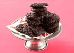 Chocolate-Chocolate Cherry Cookies.  These chocolate cookies have everything going for them. They're chewy and loaded with chocolate chips and dried cherries. Use an ice cream scoop to make the dough easier to drop onto baking sheets.