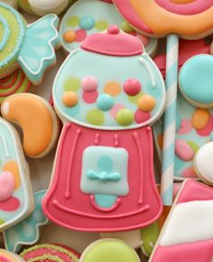 Gumball Machine Cookies / cutest cookies ever