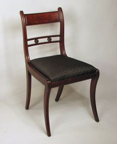 Set of Eight Classical Mahogany Dining Chairs image 3