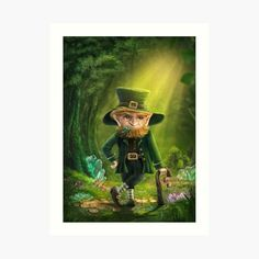 Leprechaun, Supernatural, My Arts, Art Prints, Printed, Awesome, Artist, Fictional Characters, Design
